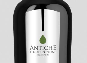 Antiche-Tenute-Pontine-Etichetta-bottiglia-olio-dettaglio
