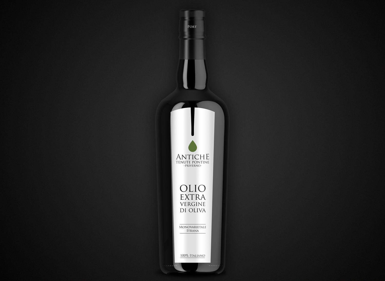 Antiche-Tenute-Pontine-Etichetta-bottiglia-olio